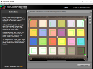 Colour checker software with DGN