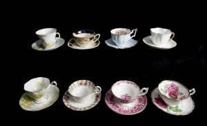 Teacup test #2 - on black shelves