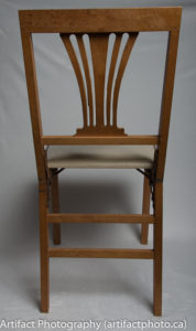 Unfolded chair - rear