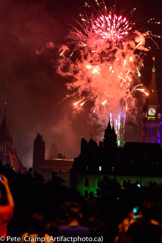 Fireworks over Canada's Parliament Buildings